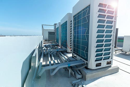 Air conditioning installation for restaurant/cafe